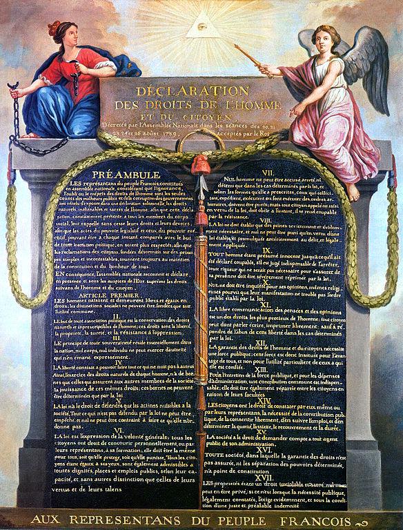 Declaration des Droits de l'Homme, 1789