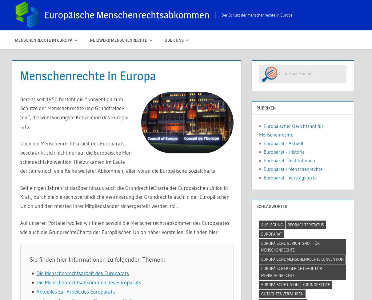 Europäische Menschenrechtsabkommen