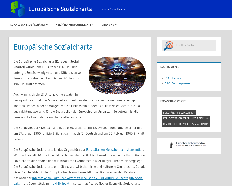 Europäische Sozialcharta