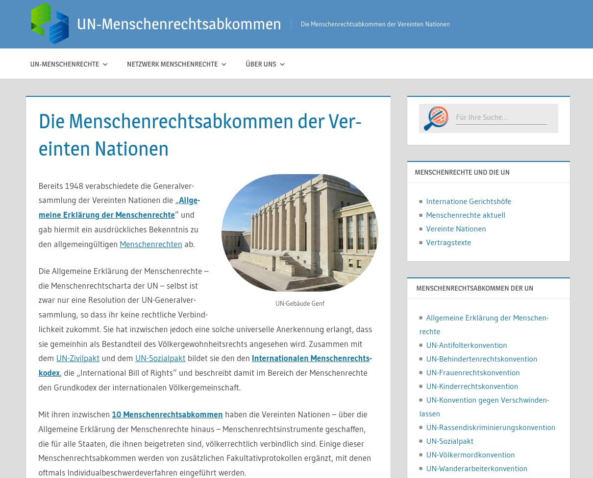 UN Menschenrechtsabkommen