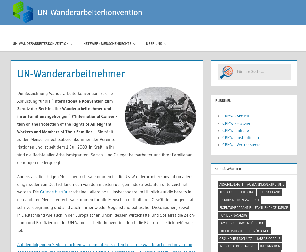 UN-Wanderarbeiterkonvention
